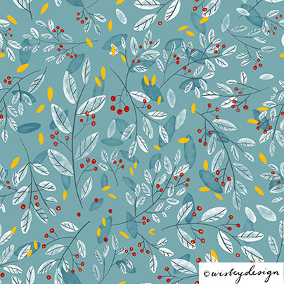 Holiday Leaf Repeating Pattern Design