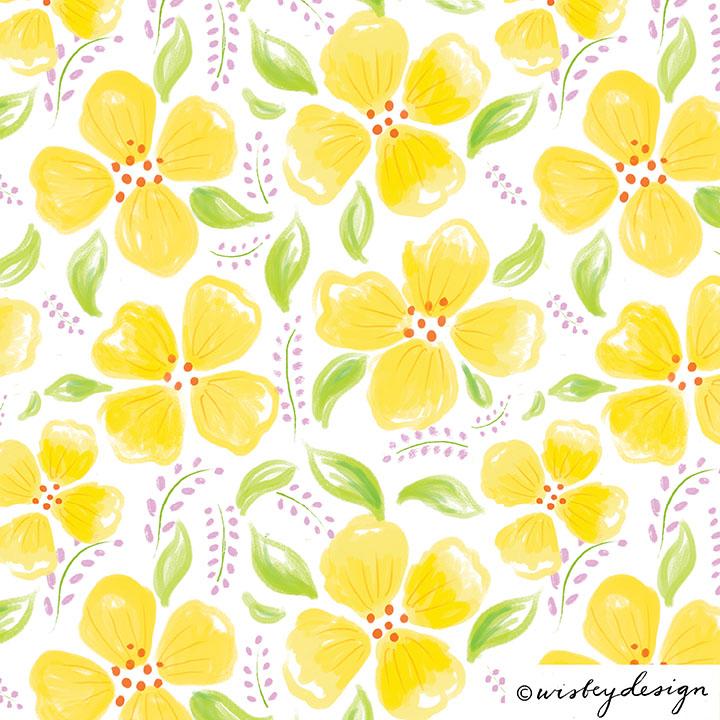 Summer Floral Pattern Design Set