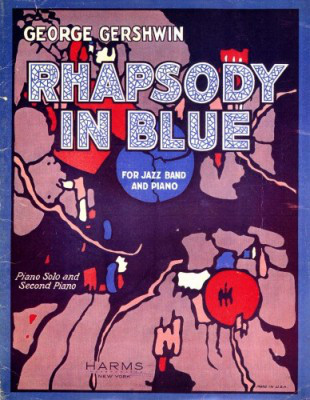 Cartel de la obra Rhapsody in Blue.