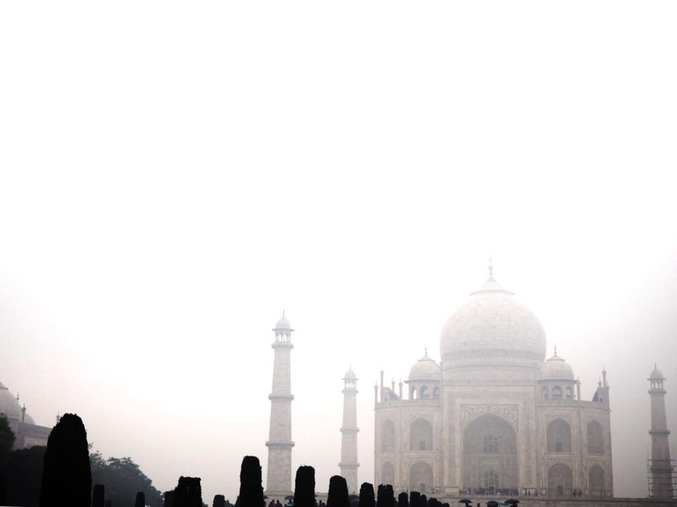 Taj Mahal in the rain