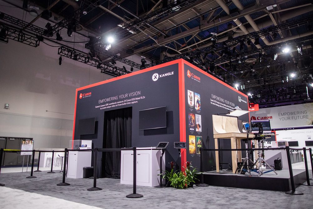 2 replay + 2 sharing stations at our recent event at  CES with Canon USA