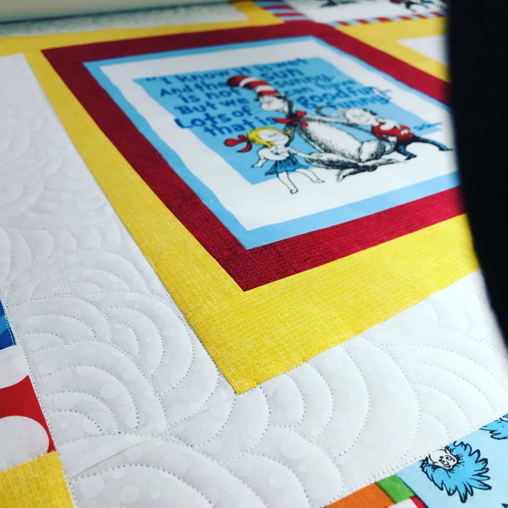 Client quilt with custom quilting