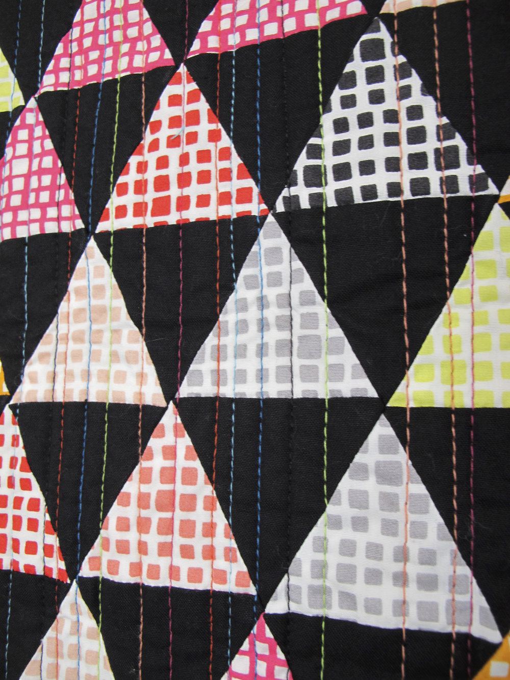 Multicolored matchstick quilting
