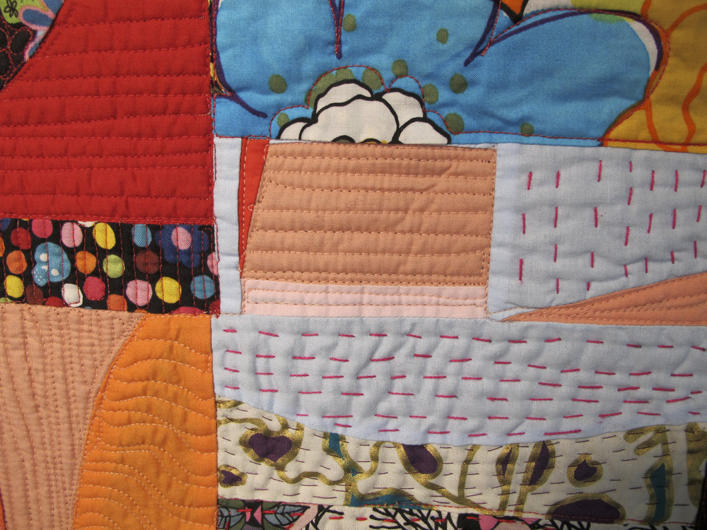 Hand and machine quilting go great together