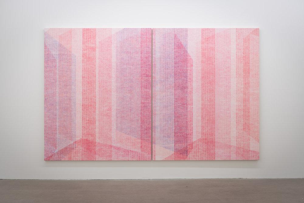 Marie-Claire Blais,  Être la porte qui s'ouvre 11 , 2017, Acrylic on canvas, 203 x 330 cm, Courtesy of the artist and Galerie René Blouin