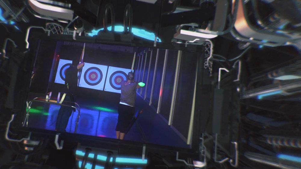 Cosmic Archery - Lights Dimmed, Music pumping & Black Lights On - Let's Shoot!