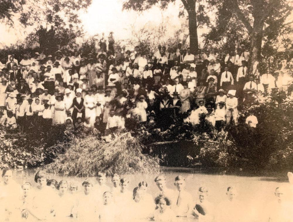 Baptisms at Summers Mill, circa 1880