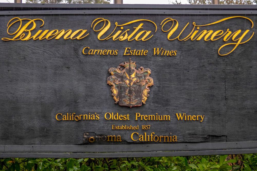 Buena Vista Winery, California's Oldest Winery, estab. 1857 sonoma, CA