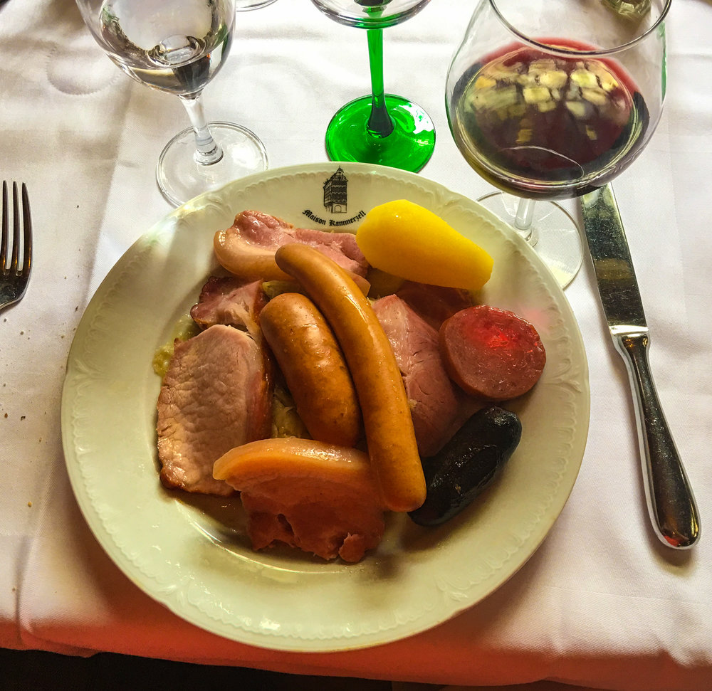 Sausage, Beef, and Sauerkraut, Strasbourg, France