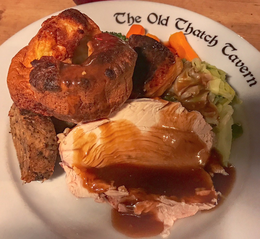 Yorkshire Pudding and Turkey Dinner, Stratford, England