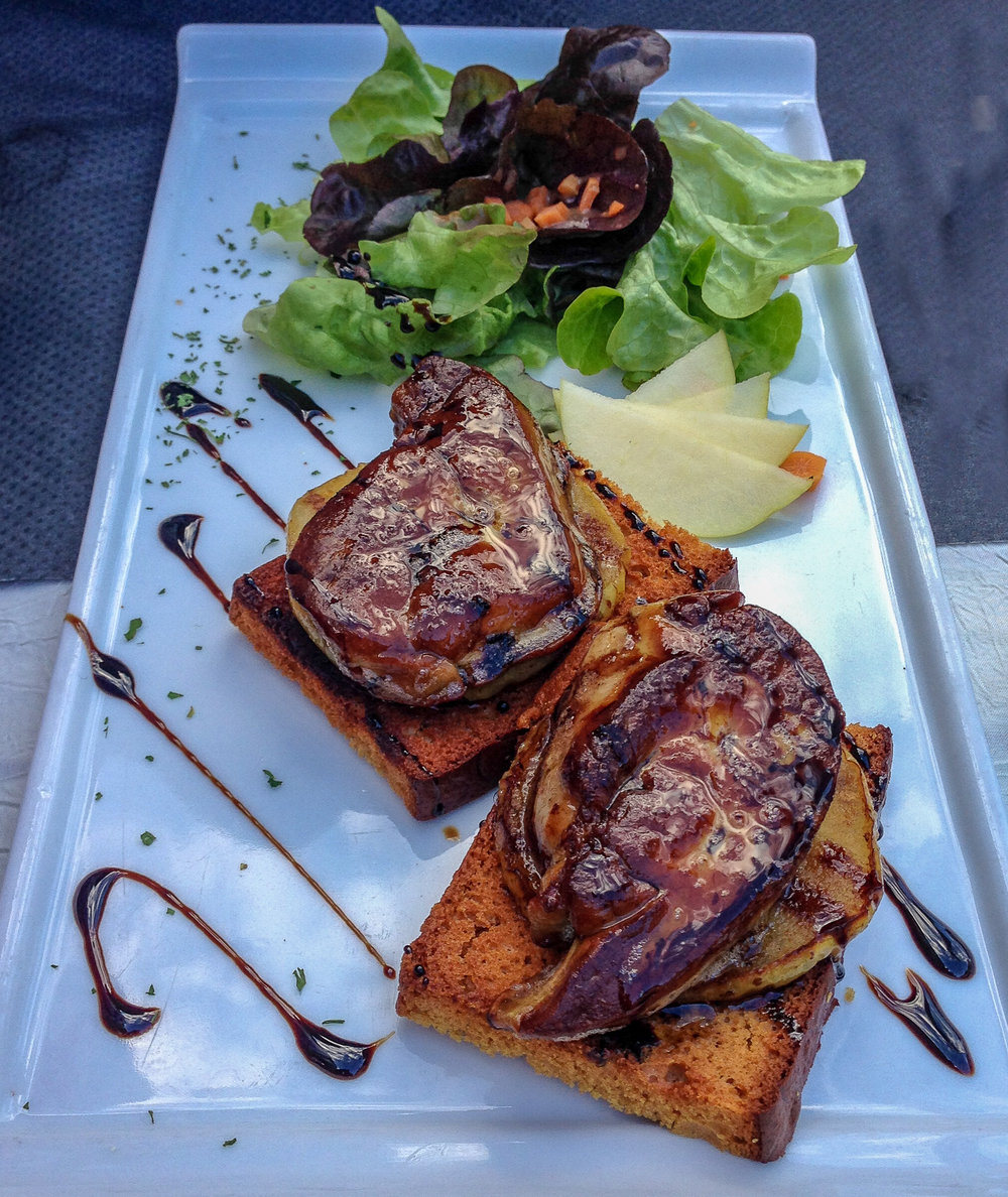 Grilled Foie Gras on Toast Points, Sarlat-la-Canéda, France