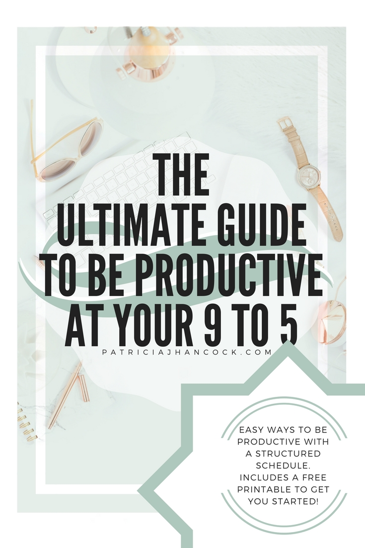 Being productive in a 9 to 5 career can be more difficult due to being in a structured schedule. In this article, we will take a look at how you can amp up your productivity in any 9 to 5 career! Here you will find a FREE printable to get you started to being a productive powerhouse at the office!