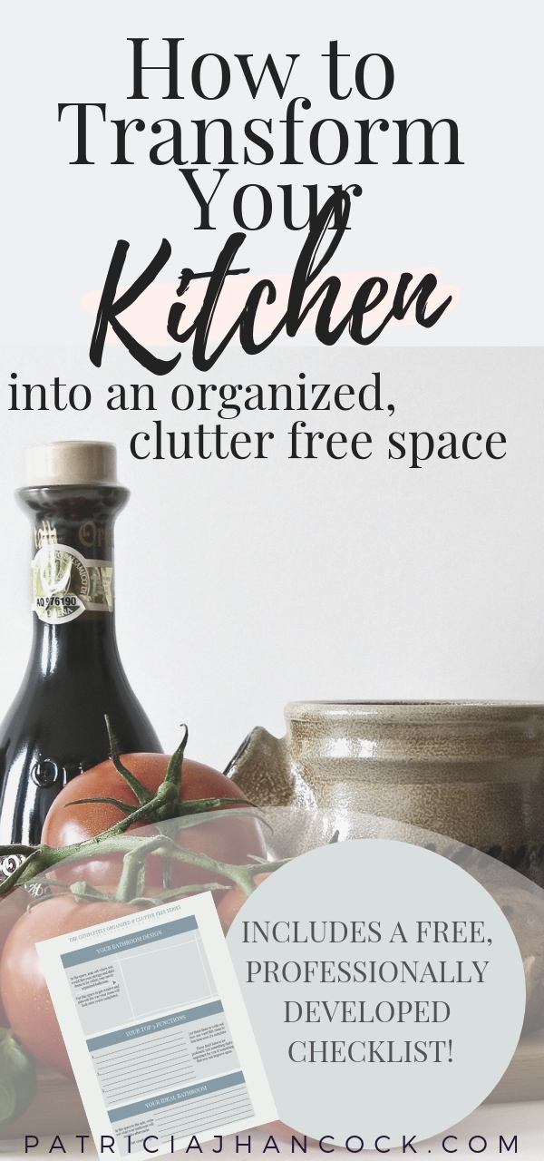 Learn how to completely organize and declutter your home with this in-depth room by room series. These tips and tricks have been thoroughly tested & are used by professionals to keep their house spotless and functional. In this article, your kitchen will be perfected with these simple, easy steps. Includes a printable worksheet! #organization #home #declutter #organizemyhome #clutterfree