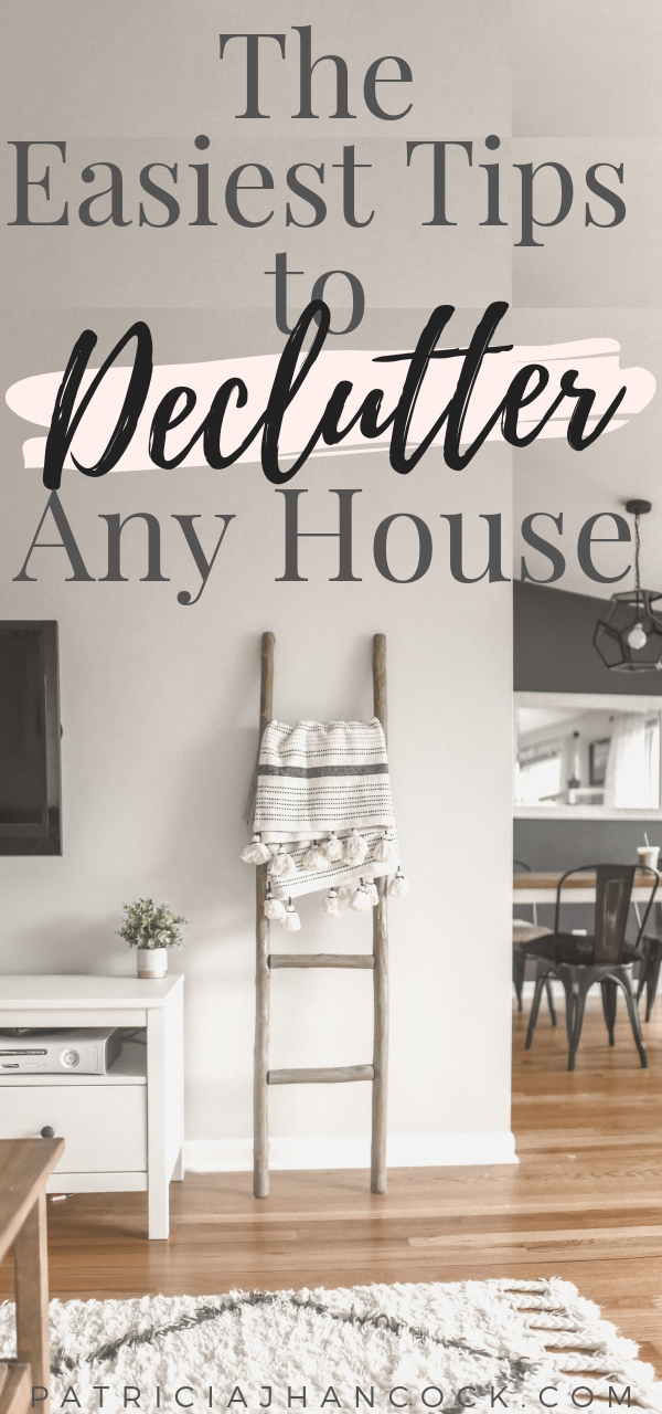The easiest decluttering tips to overcome any struggle with your home organization and give you the decluttering motivation you need to keep going! Simple to implement and will refocus on your goals to conquer your clutter and finally get your house back to decluttered and organized. #minimalism #decluttering #organization #homeorganization