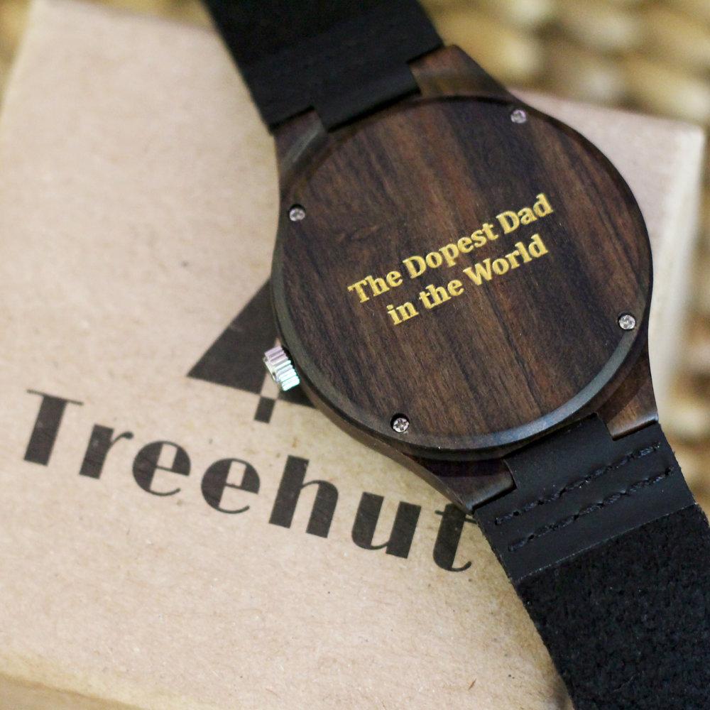 Ebony Wooden Watch from  TreeHut