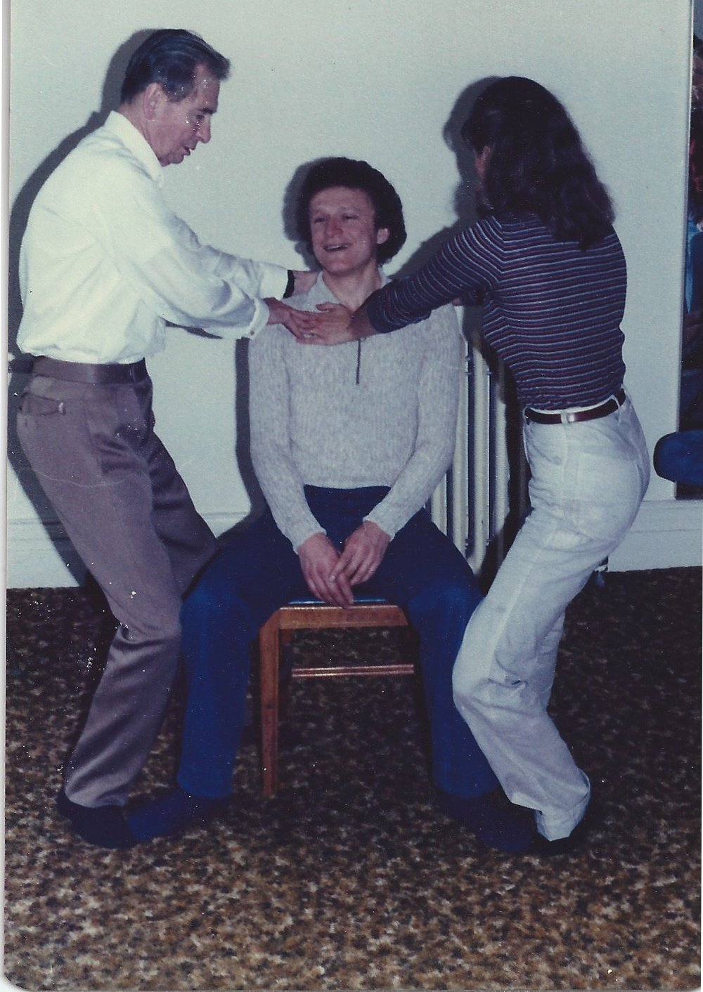 Patrick Macdonald teaching Pamela, 1979