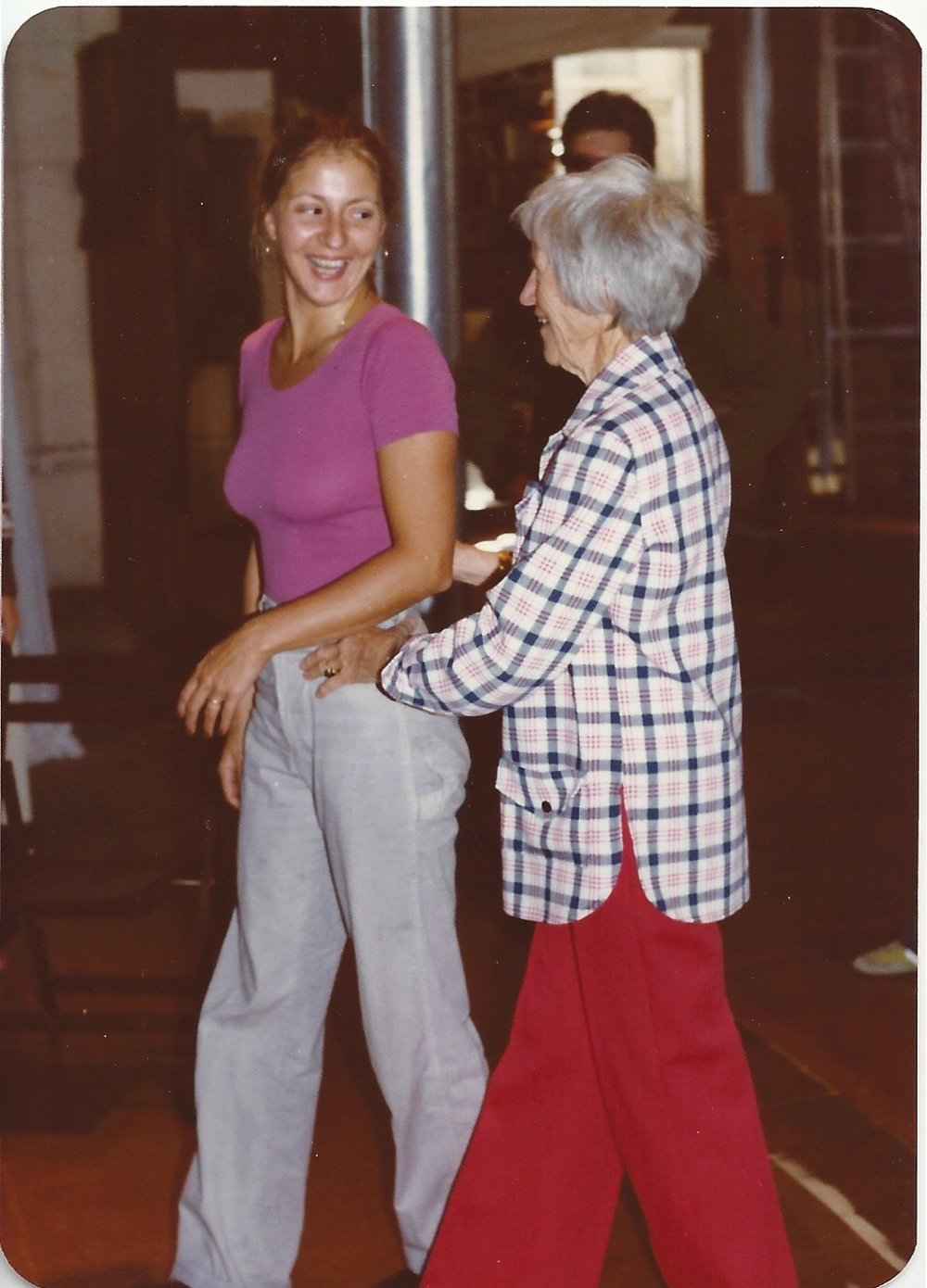 Pamela with Marj Barstow, 1978