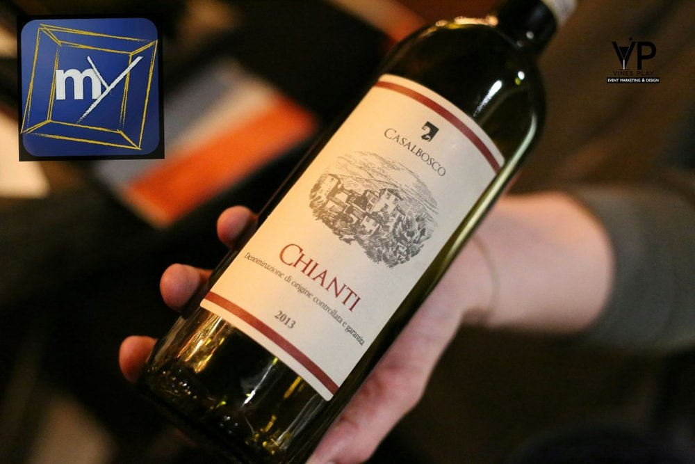 3. Casalbosco Chianti  Medium-bodied. Ruby red color with violet hues.Aroma of cherry and plum with a herbaceous touch. Notes of red fruits and spices. Tannins are means and melted. The wine is long and has a nice acidity that brings freshness. Goes well with pasta, pizza and Italian dishes.
