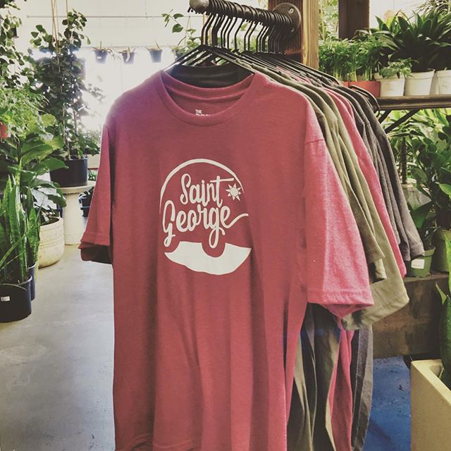 Shirts are printed and ready for your purchase. @mossandtimber has them in they're shop. Go get yourself a shirt and a plant of course! I can't thank @mossandtimber enough to hold my shirts in their shop. Hands down, the best plant store in town! . Thank you for all of your feedback everyone in my last post! If there is a St. George, or Utah themed shirt you think would be awesome on a T-Shirt let me know in the comments! . #mossandtimber #stgeorge #stgeezy #geezytees #saintgeezy #southernutah #utah #tshirt #plants #succulents #design #ryonet #theprintlife #redrocks #dixie #thecityofmarsonearth #print #screenprinting #thedixielife