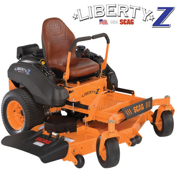 "LIBERTY Z    SIZES:  36"" / 48"" / 52"" / 61''  The Scag Liberty Z ® is specifically designed for the home owner that wants a high-quality mower but does not need a large, commercial-grade unit. Now, there is no need to take a step down and buy a big box, throw away mower. Now, you can buy something that will last, and perform at a very high level.    WATCH VIDEO"