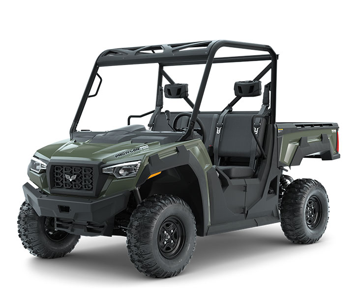 PROWLER PRO / 3-PASSENGER ($11,399)   Whisper-Quiet 50HP EFI Gas Engine with 812cc  >>  Vibration-Reducing Frame  >>  Pro-Terrain 26x10-12 Front and Rear Tires  >>  3-Passenger Bench Seating  >>  10-inch Front and 9.5-inch Rear Suspension Travel >> 10.75-inch Ground Clearance  >>  2,000-lb Towing Capacity  >>  1,500-lb Payload Capacity  >>  1,000-lb Capacity Cargo Box with Tilt  >>  17.95 cu-ft of Storage  >>  Electronically Selectable 4WD  >>  Selectable Locking Rear Differential    WATCH THE VIDEO    or    TAKE A LOOK AT THE FEATURES