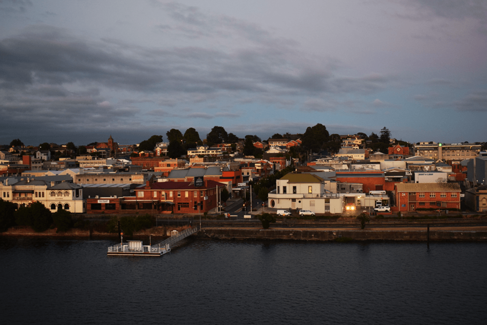 Reached Tasmania at 6:00 In the morning, and the city looked so pretty in the early sunlight.
