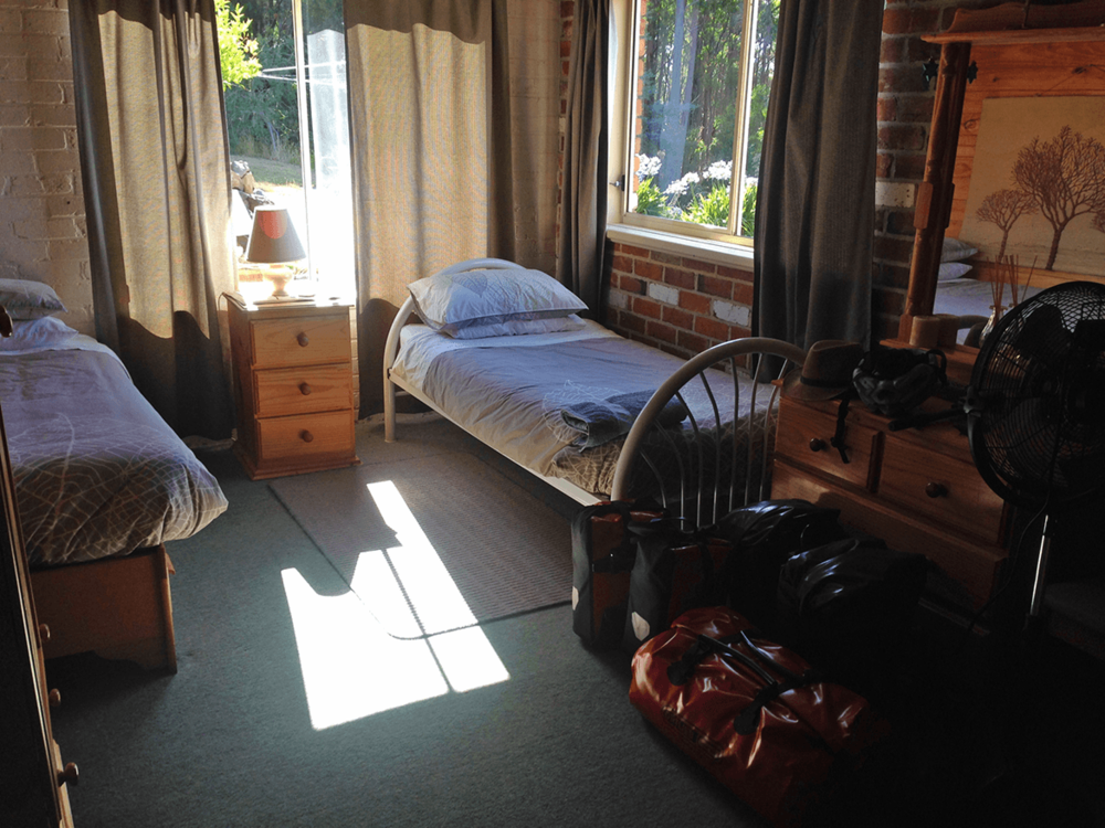 After reaching Burnie, I got in touch with Graham and Leslie, an experienced cyclist, for my night stay arrangements. So, here is my bedroom for Burnie stay.