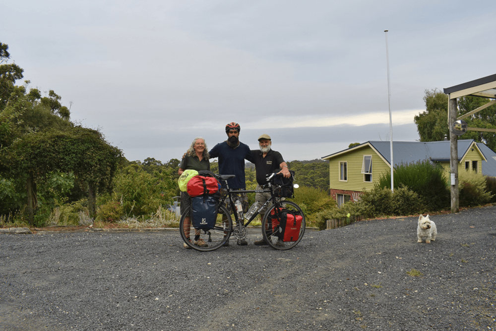Good bye to the generous host and his family along with their pet dog. Now the next marked destination is Waratah.
