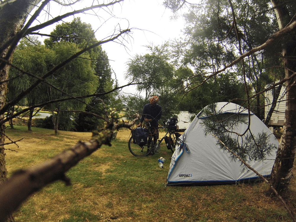 Tent time at Waratah. A nice way to end yet another memorable day of cycling.
