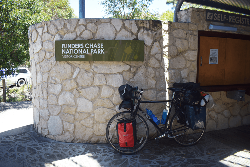 I stayed two days in the Flinders National Park to explore natural destinations - Admiral Arch and Remarkable Rock. There are shuttle buses taking visitors to these places. But I preferred to leave my luggage in the tent and explore the places by bicycle.