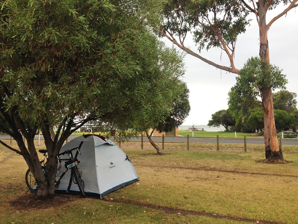 Camping at Meninge