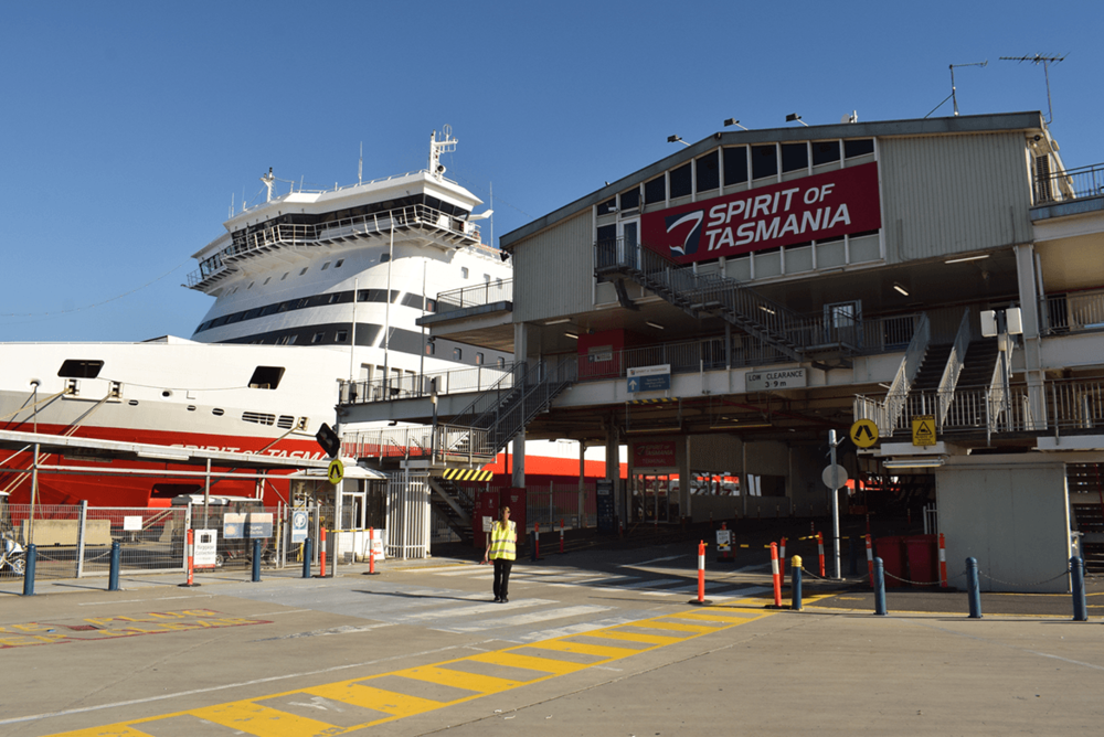 Moments before embarking on yet another beautiful overnight journey, from Melbourne to Tasmania, boarding the Spirit of Tasmania.