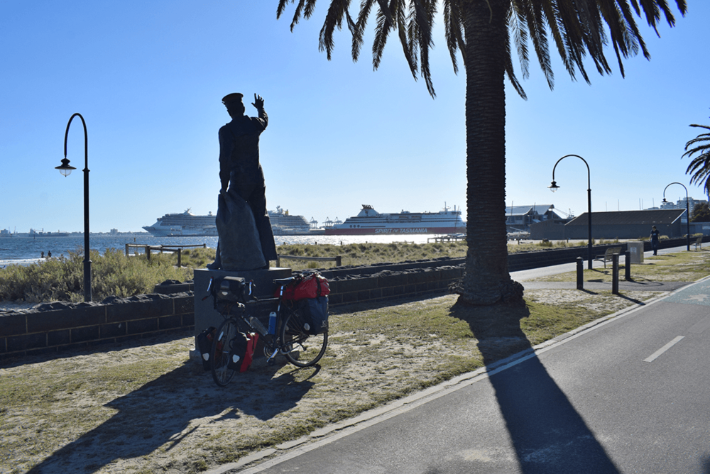 Tasmania... I am coming!  A click before boarding the ferry for an overnight journey from Melbourne to Devonport.