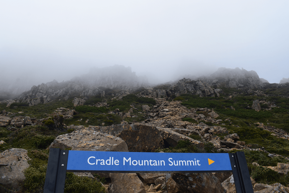 Right at the feet of 'Cradle Mountain'. There was a warning from the Information Centre, not to climb it due to bad weather conditions reported for the afternoon. However, I decided to hike to the peak.