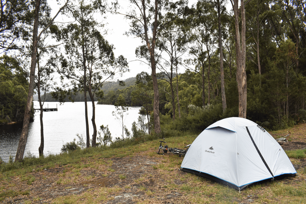 After searching for a camping spot, finally spotted a place with a beautiful lake view. It was really worth to spend a night here.