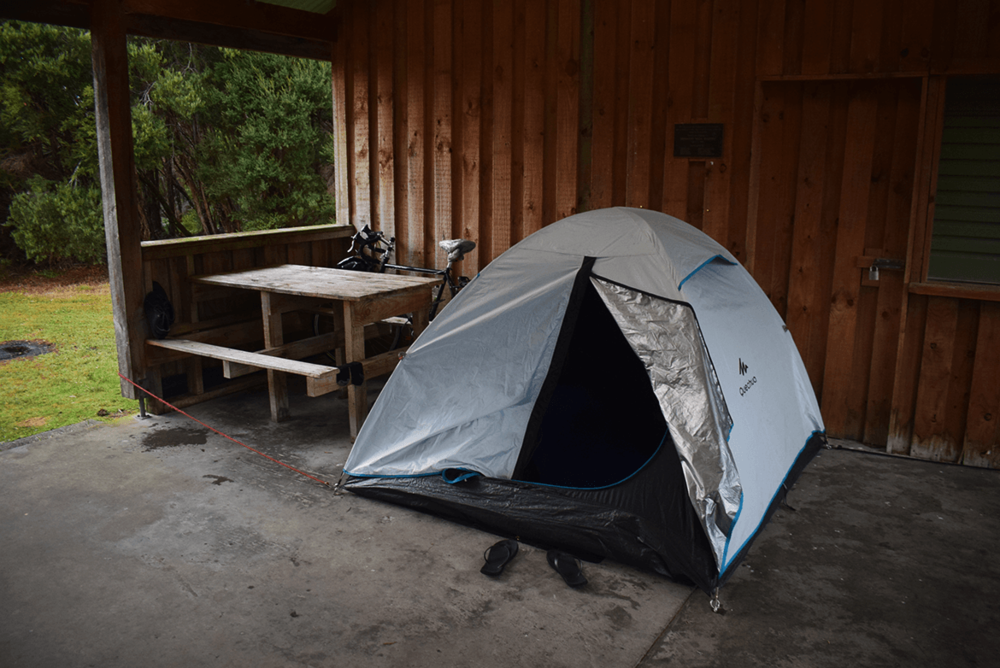 My search for a better camping spot ended here. Since the ideal camping spot was filled with rain water, I installed my camp inside the camping kitchen area. The food I cooked on that night was something special, probably because of the tiring day I had.