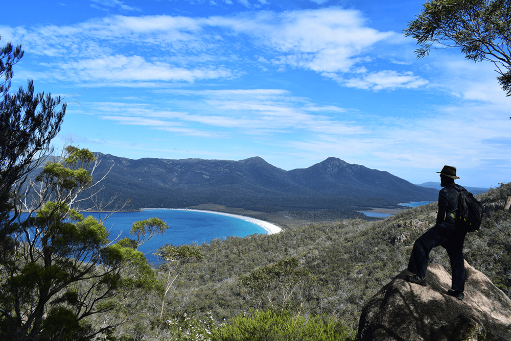 Wineglass bay lookout at Freycinet National Park.