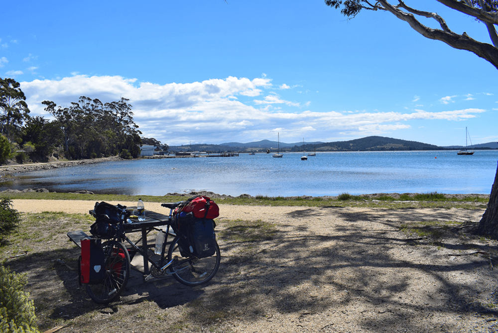 After reaching St Helens, I rested there for having my lunch and thinking whether to move towards Bay of Fires or to camp at St Helens. In the end, I did some necessary shopping from a nearby market and rode towards Bay of Fires.