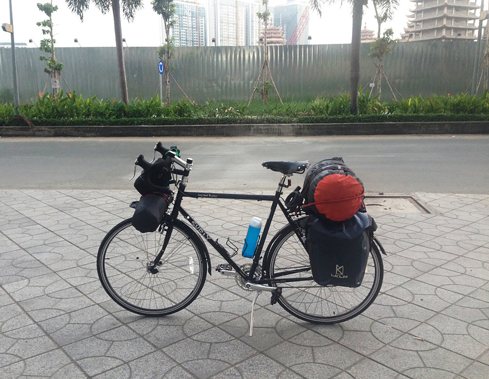 7am at Saigon: All packed and ready to start the journey towards Da Lat.