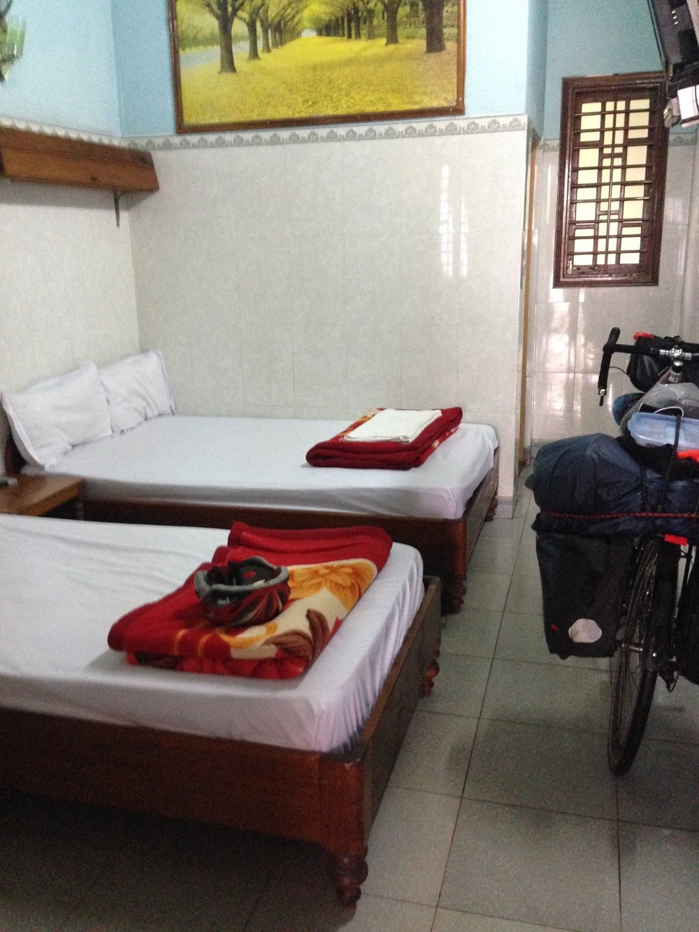 I was relieved to finally reach A Luoi and find a guesthouse. What an incredibly difficult and challenging day of cycling.