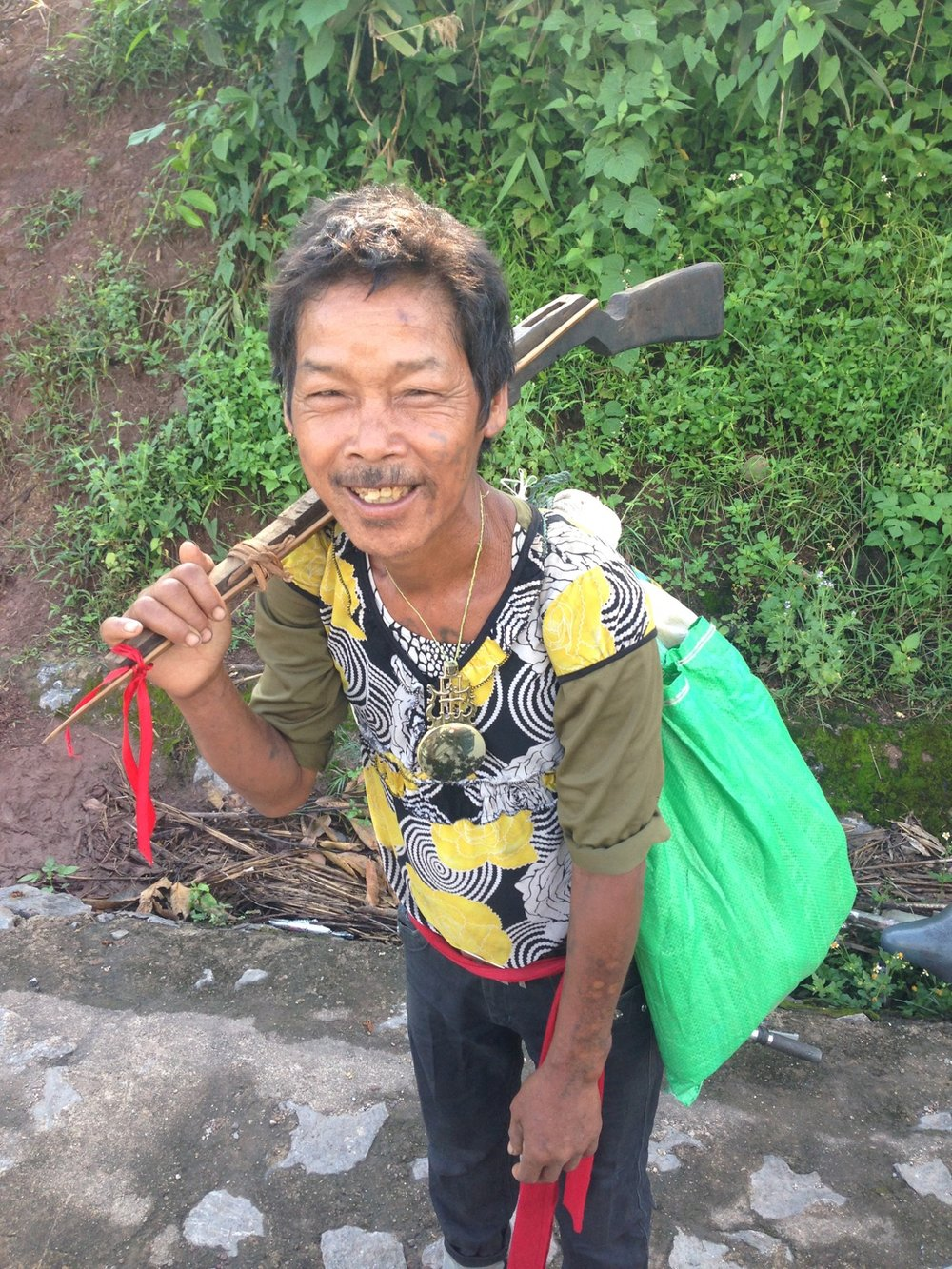 I met this Vietnamese native on the street and had a chat with him.