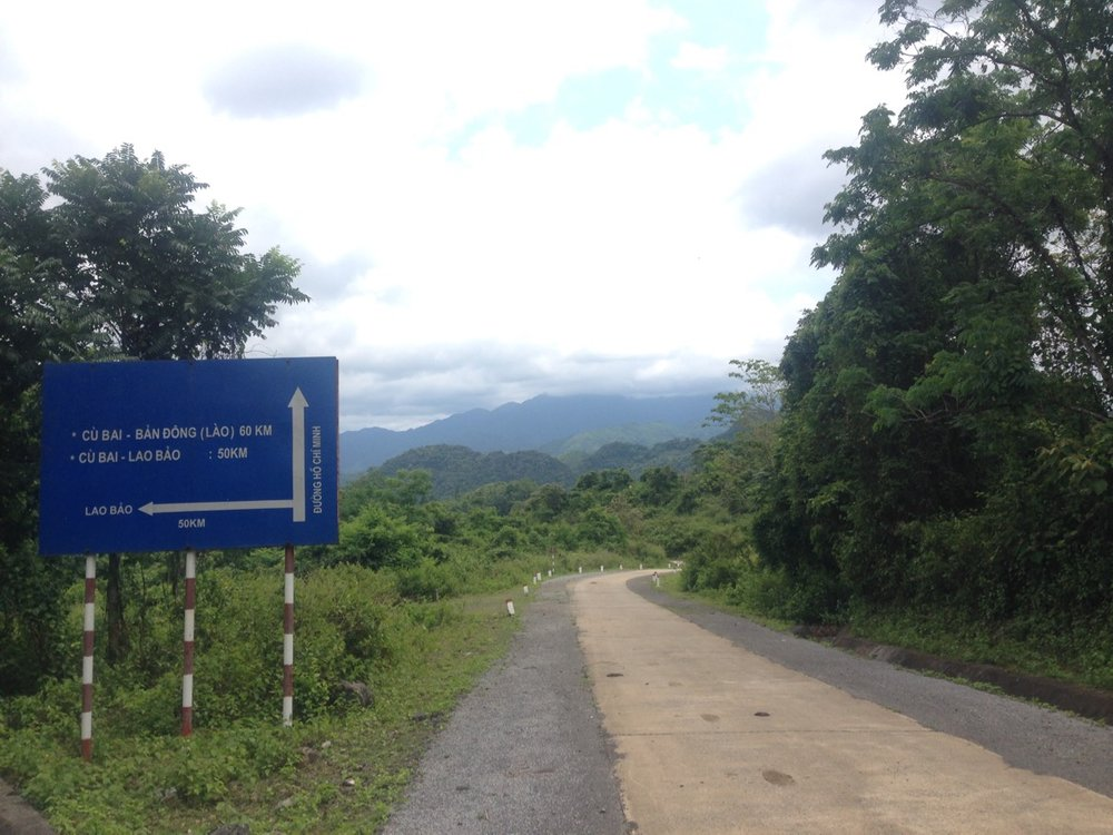 The road towards left goes to Laos border.