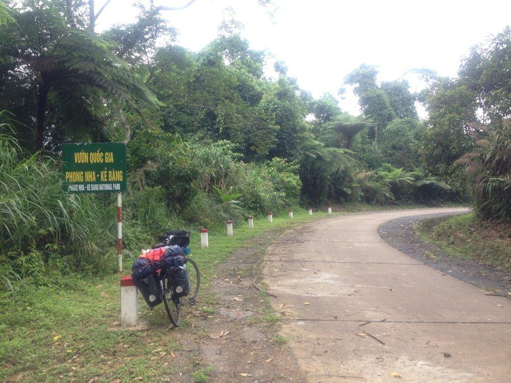 Entering Phong Nha Ke Bang National Park.