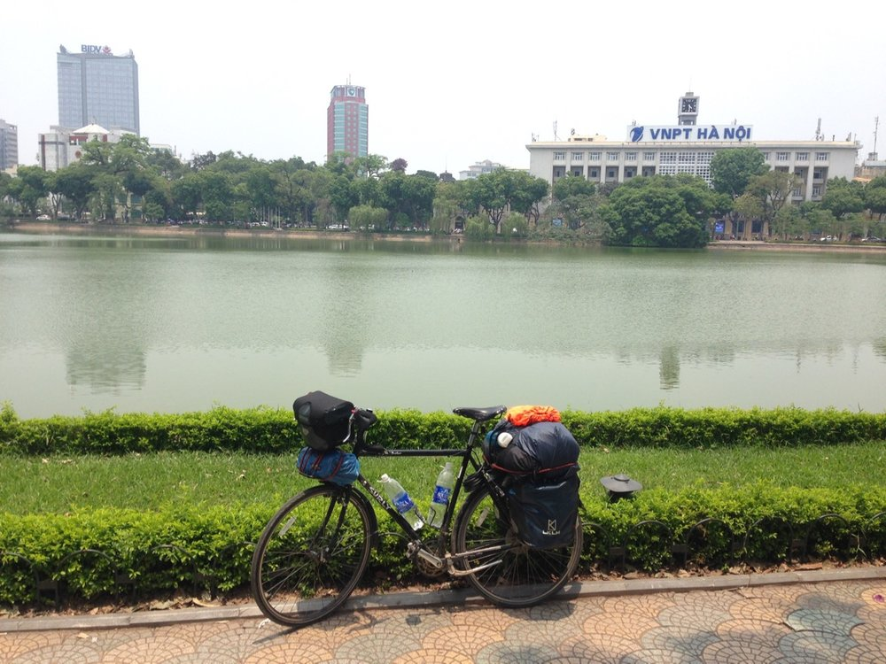 A month of cycling through the amazing Ho Chi MInh Trail, and ultimately my journey comes to an end in Ha Noi City.