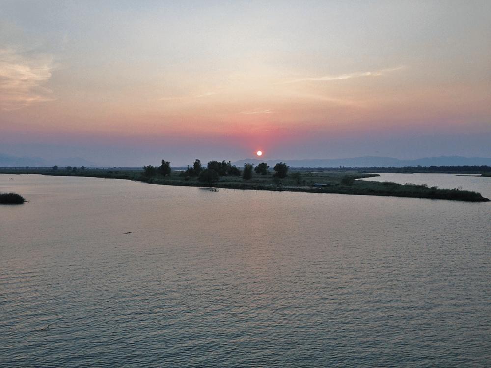 Sunset view jut before reaching Tuy Hoa.
