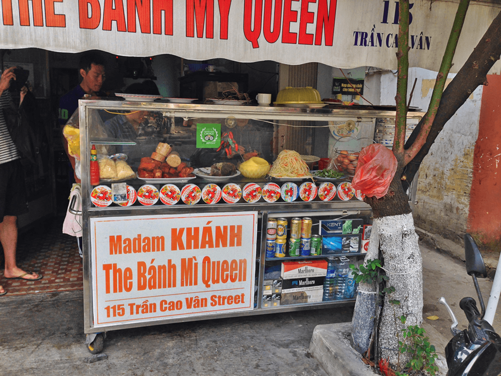 Very soon on the day I reached Hoi An,   I started exploring the local food, by visiting 'Madam Khanh-The Banh Mi Queen, a popular food joint.