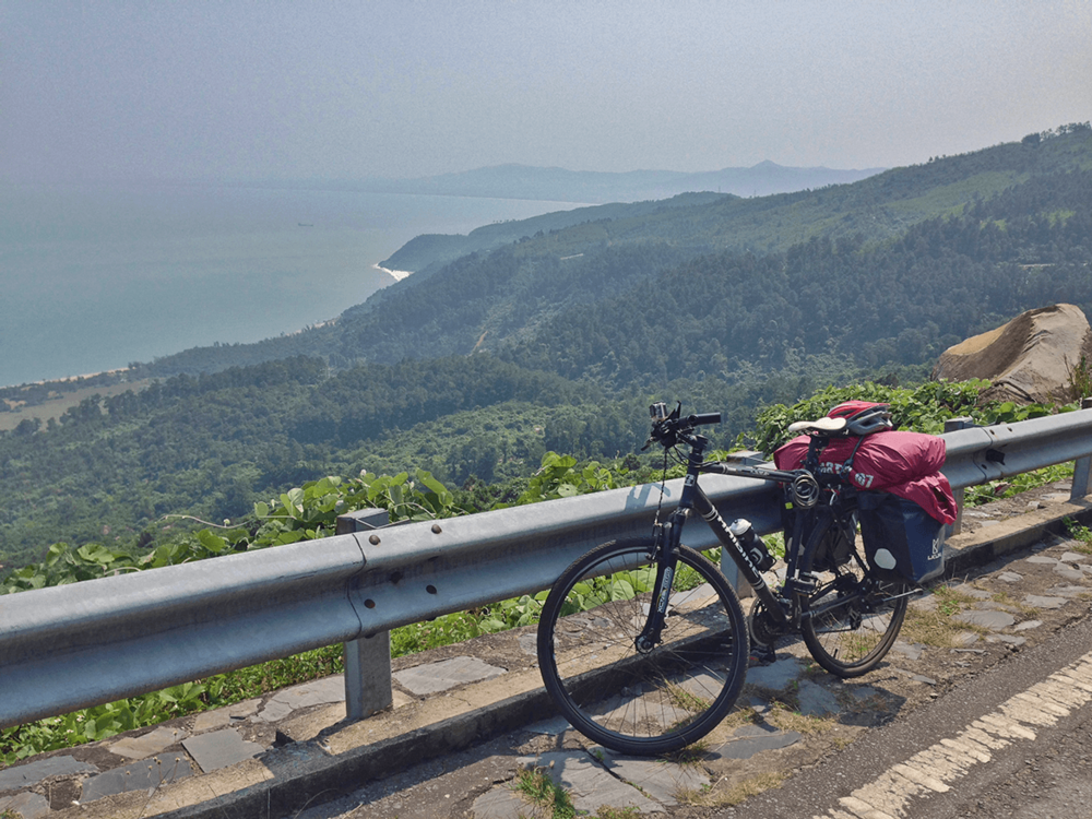 Hai Van Pass with a beautiful view of the Ocean.