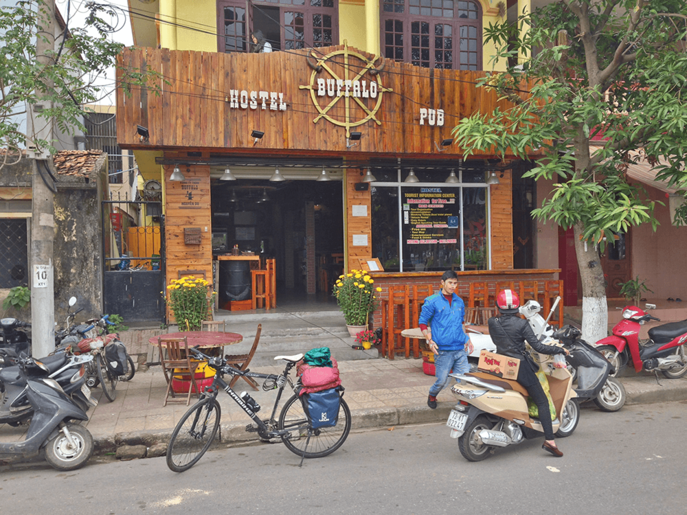 Stayed at Buffalo Hostel; met some cyclists who came from Laos. It was nice to hear some stories about Laos, as I was planning to go there after finishing Vietnam. The Hostel served some really good food and breakfast. Most of the Hostels in Vietnam provide free breakfast.
