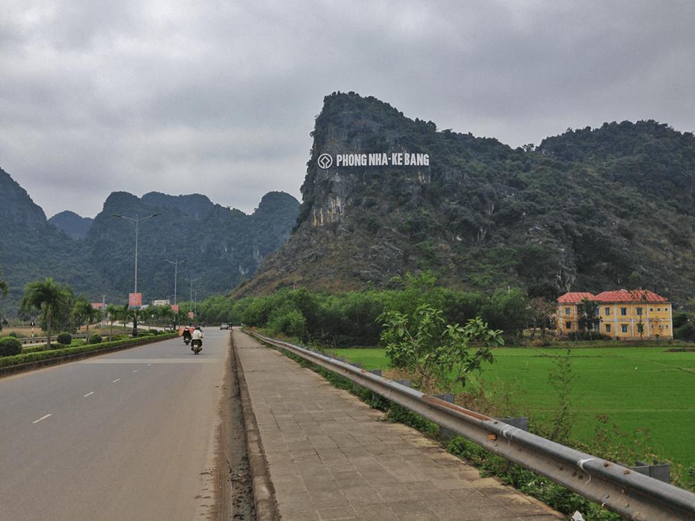 Entering Phong Nha town.