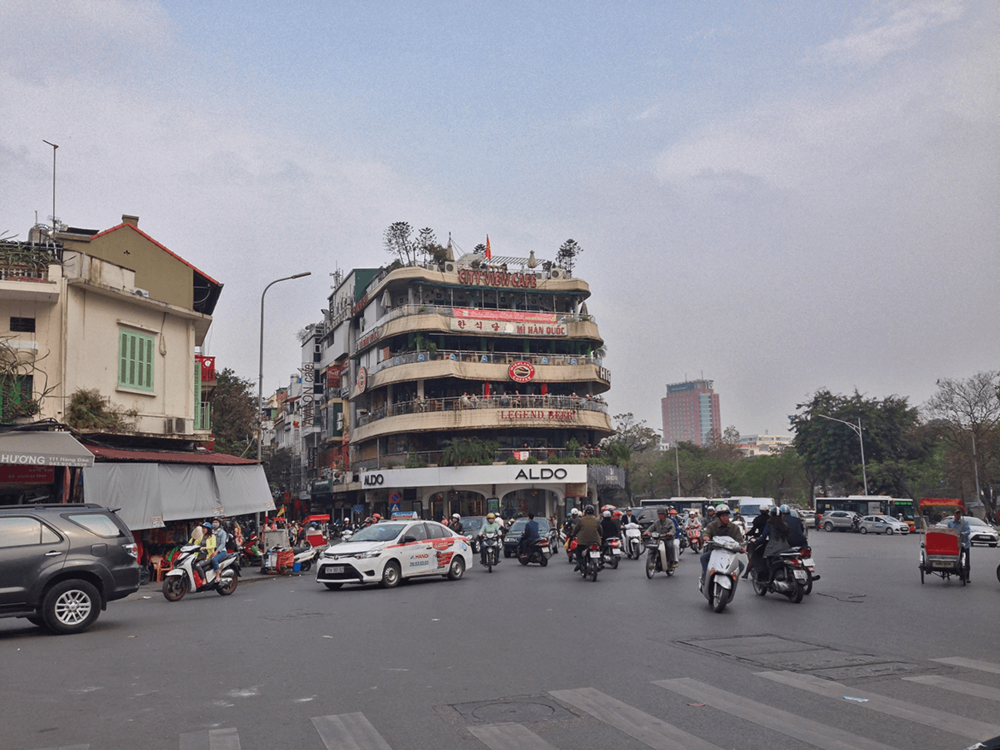 In Hanoi ultimately, and exploring the city.